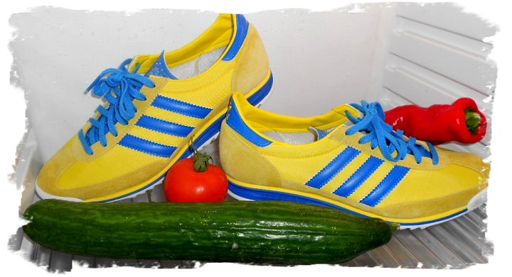 adidas SL72 sun/blue (SL=super light)