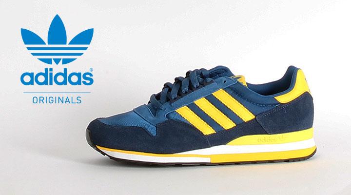 d9bed304e9e8fe adidas ZX 500 in lone blue dark indigo sun (blau gelb)