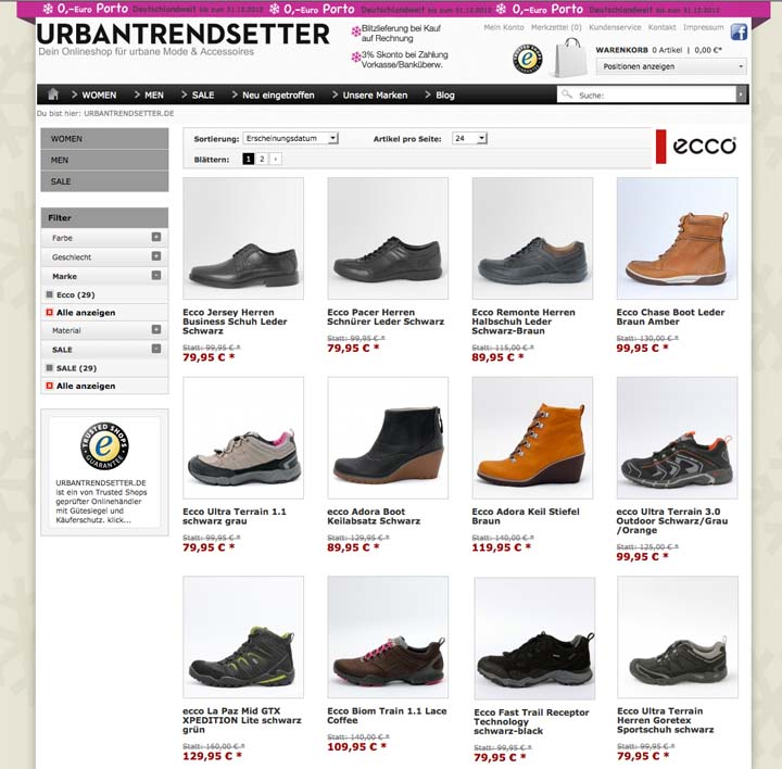 Weihnachts Angebot: ecco Schuhe