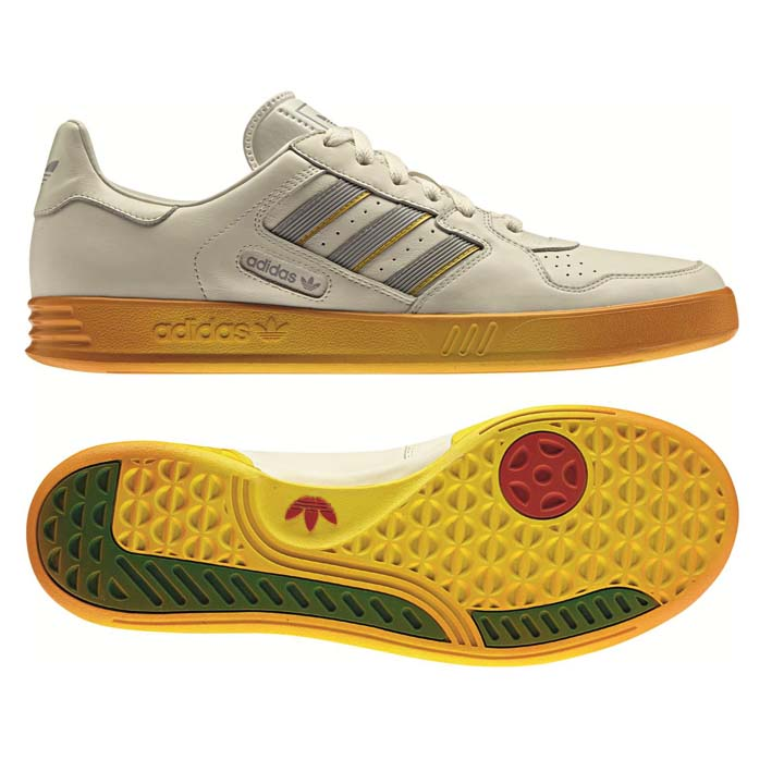 adidas TENNIS COURT TOP OG white vapour/vivid yellow/aluminium