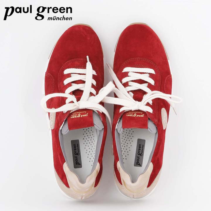 sports shoes f5144 1a835 Paul Green Trend Sneaker in Rot & Grün - uts // blog