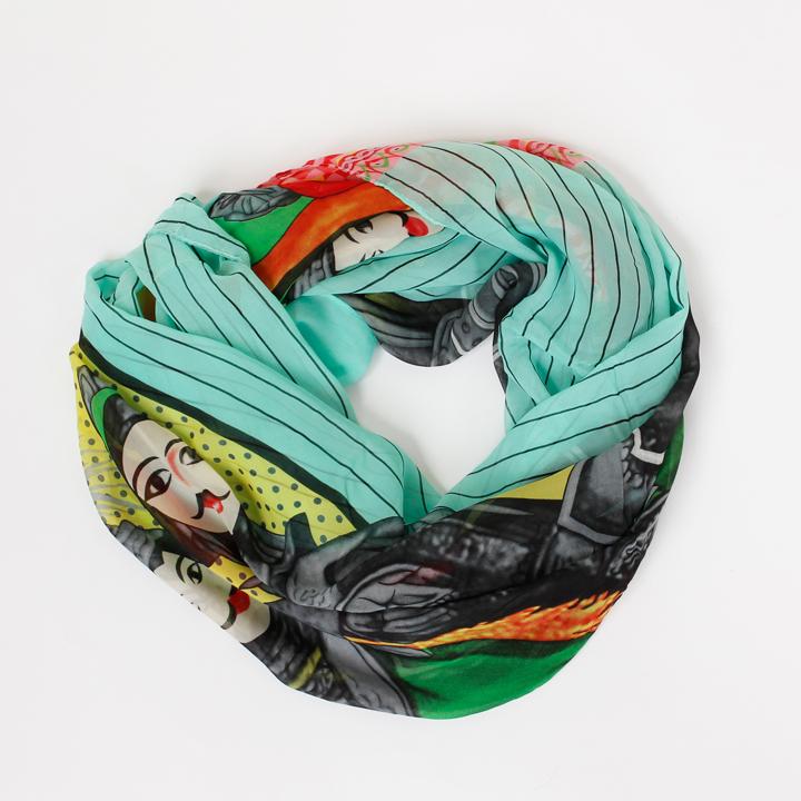 Rundschal Oriental Multicolor