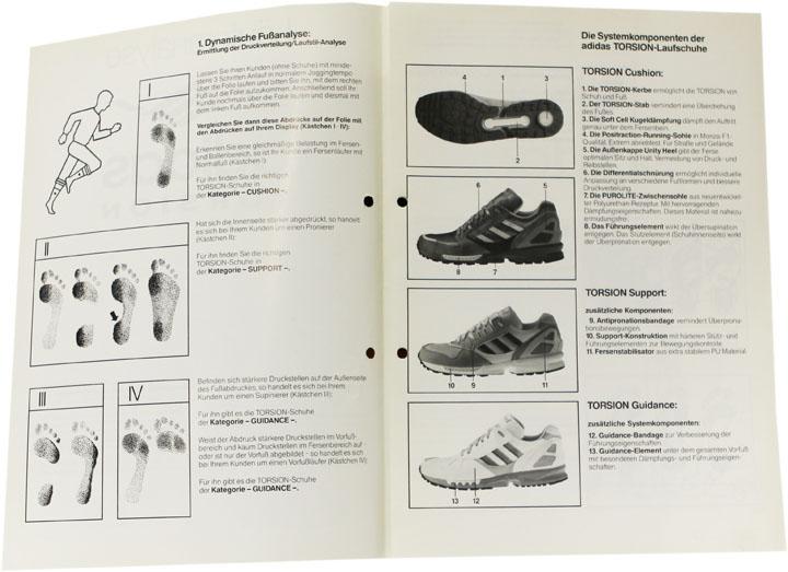 adidas Torsion dynamische Fußanalyse
