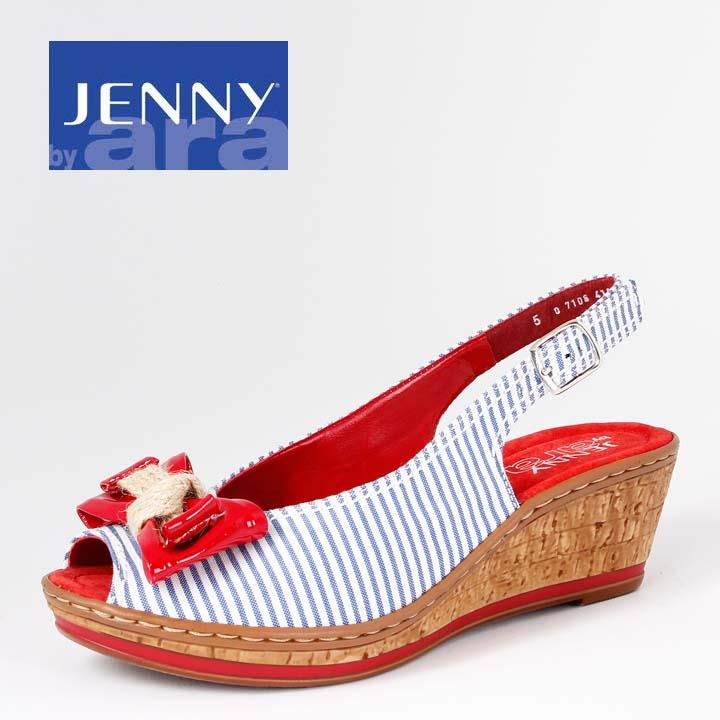 Jenny ara Rimini Sandale Streifen Maritim 566112