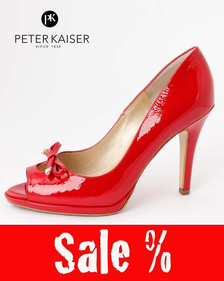 peter kaiser lack pumps cinua reduziert 92713 218 rot lack crakle sale. Black Bedroom Furniture Sets. Home Design Ideas