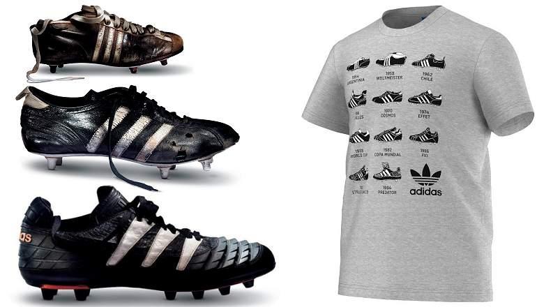 adidas Football Shoe Tee
