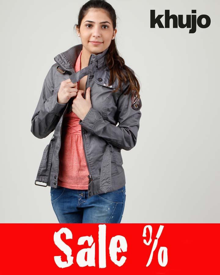 Khujo Jacke Lissy Contrast Grau Sale