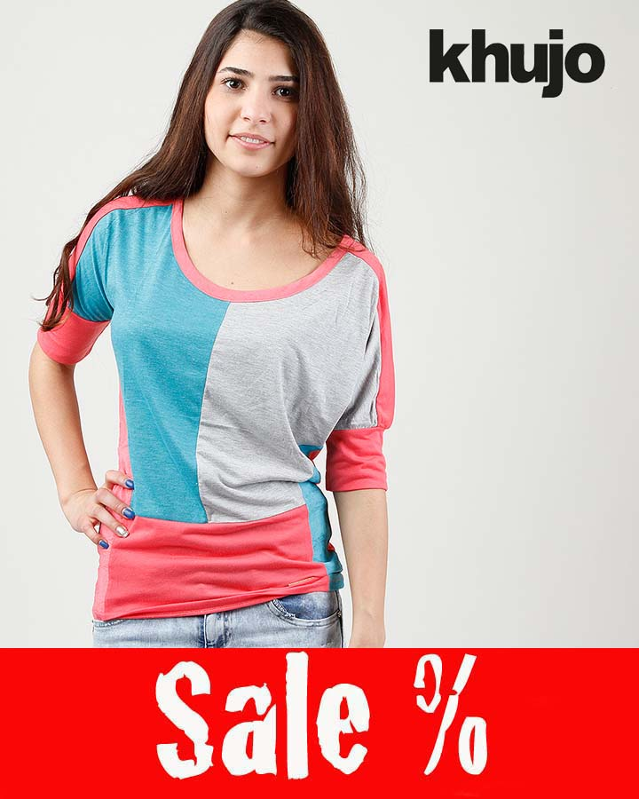 Khujo Shirt Seeve Pink Multi Sale