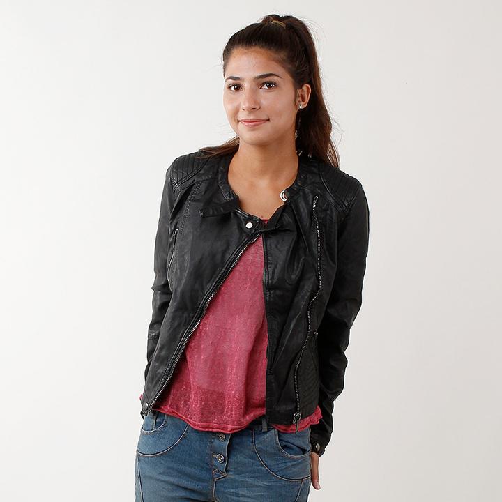 UTS Accessoires Fake Leather Jacke Schwarz