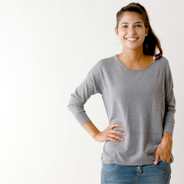 UTS Accessoires Pullover Veronika Grau