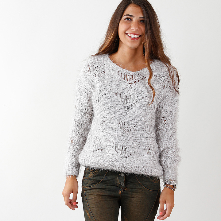 UTS Accessoires Strick Pullover Mia Beige
