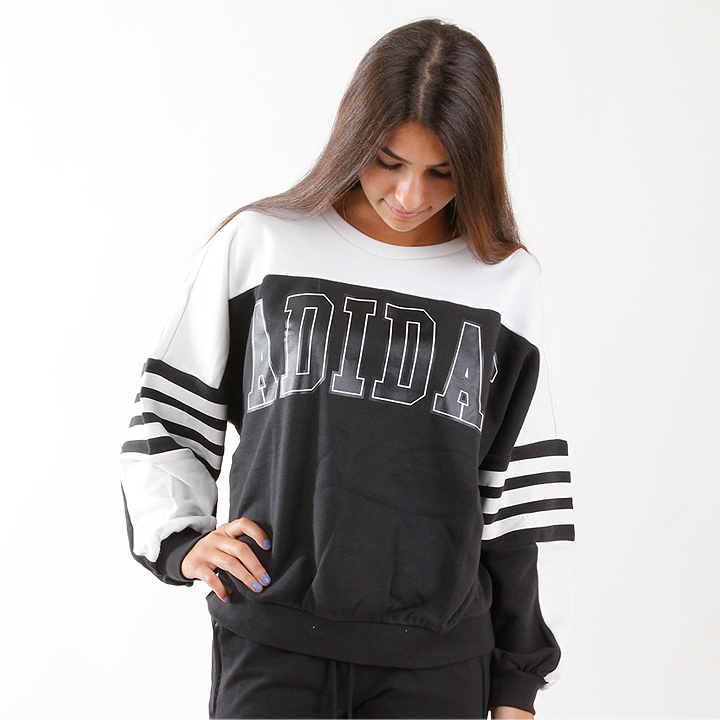 adidas Sweatshirt Colourblocking black white M30353