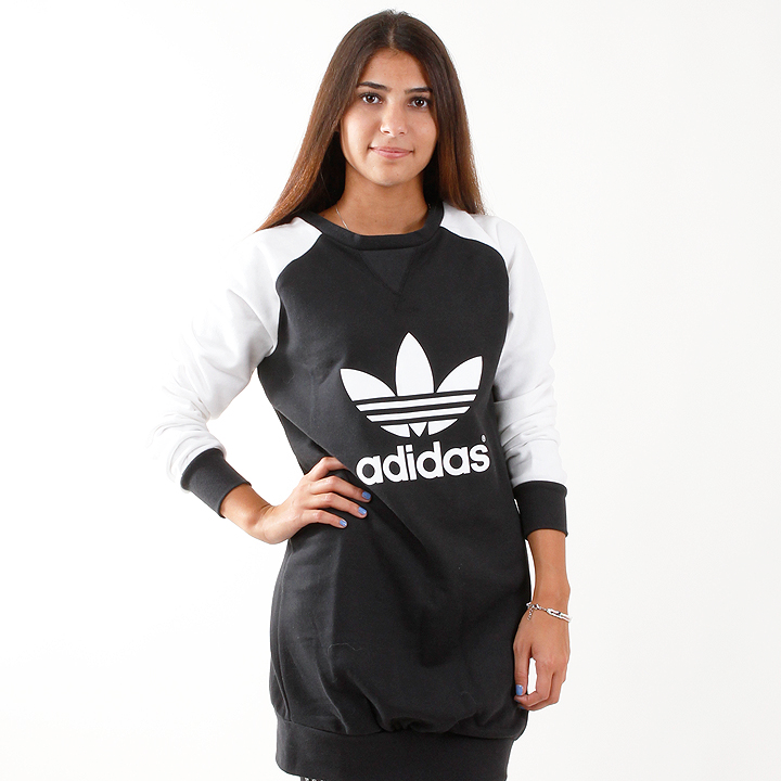 adidas Sweatshirt Dress black white M30770